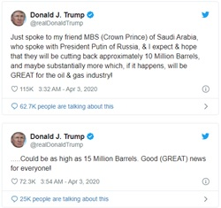 trump tweets 3 april